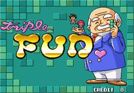 Title screen of Triple Fun on the Arcade.