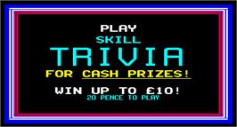 Title screen of Trivia on the Arcade.