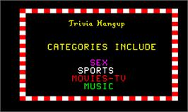 Title screen of Trivia Hangup on the Arcade.