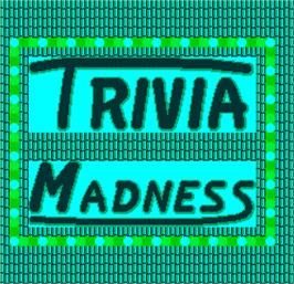 Title screen of Trivia Madness on the Arcade.