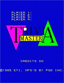 Title screen of Trivia Master on the Arcade.