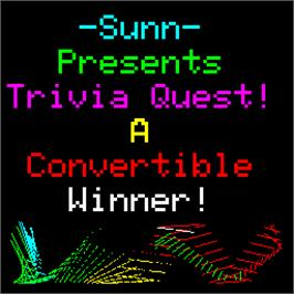 Title screen of Trivia Quest on the Arcade.