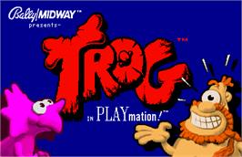 Title screen of Trog on the Arcade.