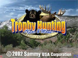 Title screen of Trophy Hunting - Bear & Moose V1.0 on the Arcade.