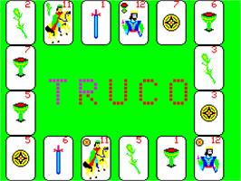Title screen of Truco-Tron on the Arcade.