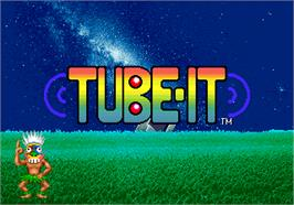 Title screen of Tube-It on the Arcade.