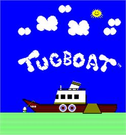 Title screen of Tugboat on the Arcade.