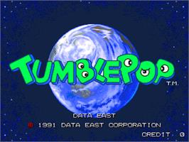 Title screen of Tumble Pop on the Arcade.