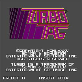 Title screen of Turbo Tag on the Arcade.