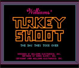 Title screen of Turkey Shoot on the Arcade.
