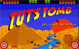 Title screen of Tut's Tomb on the Arcade.
