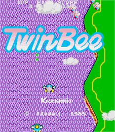 Title screen of TwinBee on the Arcade.