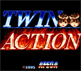 Title screen of Twin Action on the Arcade.