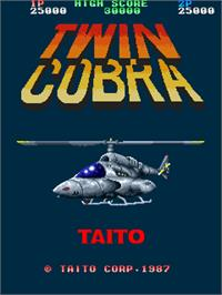 Title screen of Twin Cobra on the Arcade.