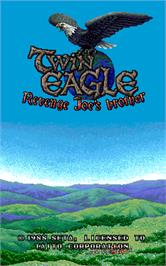 Title screen of Twin Eagle - Revenge Joe's Brother on the Arcade.