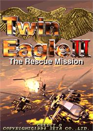 Title screen of Twin Eagle II - The Rescue Mission on the Arcade.