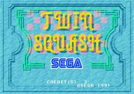 Title screen of Twin Squash on the Arcade.