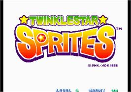 Title screen of Twinkle Star Sprites on the Arcade.