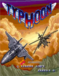 Title screen of Typhoon on the Arcade.