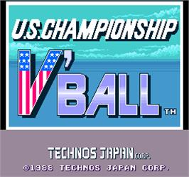Title screen of U.S. Championship V'ball on the Arcade.