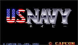 Title screen of U.S. Navy on the Arcade.