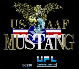 Title screen of US AAF Mustang on the Arcade.