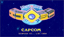 Title screen of Ultimate Ecology on the Arcade.