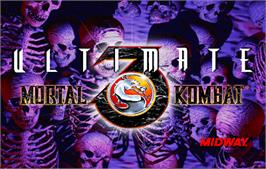 Title screen of Ultimate Mortal Kombat 3 on the Arcade.