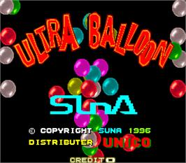 Title screen of Ultra Balloon on the Arcade.