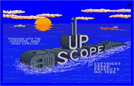 Title screen of Up Scope on the Arcade.