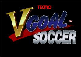 Title screen of V Goal Soccer on the Arcade.