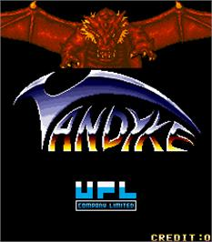 Title screen of Vandyke on the Arcade.