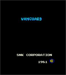 Title screen of Vanguard on the Arcade.