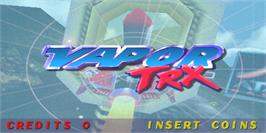 Title screen of Vapor TRX on the Arcade.