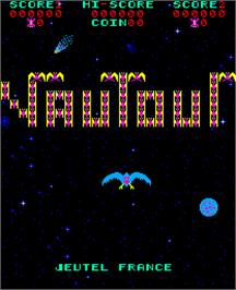Title screen of Vautour on the Arcade.