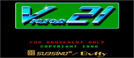 Title screen of Victor 21 on the Arcade.