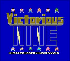 Title screen of Victorious Nine on the Arcade.
