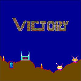 Title screen of Victory on the Arcade.