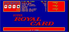 Title screen of Video Carnival 1999 / Super Royal Card on the Arcade.