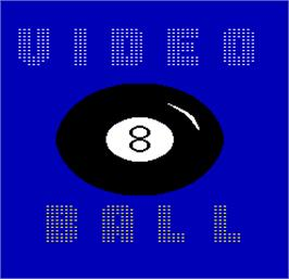 Title screen of Video Eight Ball on the Arcade.