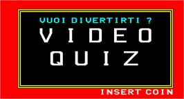 Title screen of Video Quiz on the Arcade.
