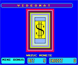 Title screen of Videomat on the Arcade.