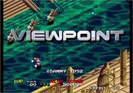 Title screen of Viewpoint on the Arcade.