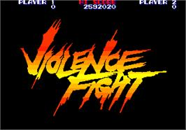 Title screen of Violence Fight on the Arcade.