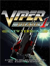 Title screen of Viper Phase 1 on the Arcade.
