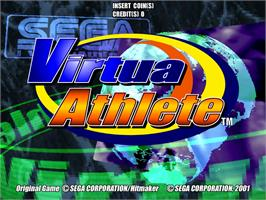 Title screen of Virtua Athletics / Virtua Athlete on the Arcade.