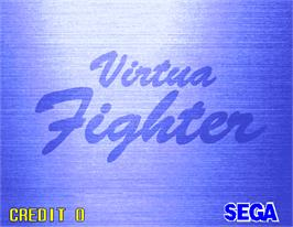 Title screen of Virtua Fighter on the Arcade.