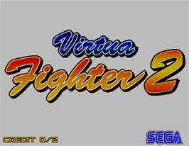 Title screen of Virtua Fighter 2 on the Arcade.