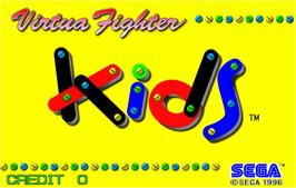 Title screen of Virtua Fighter Kids on the Arcade.