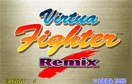 Title screen of Virtua Fighter Remix on the Arcade.